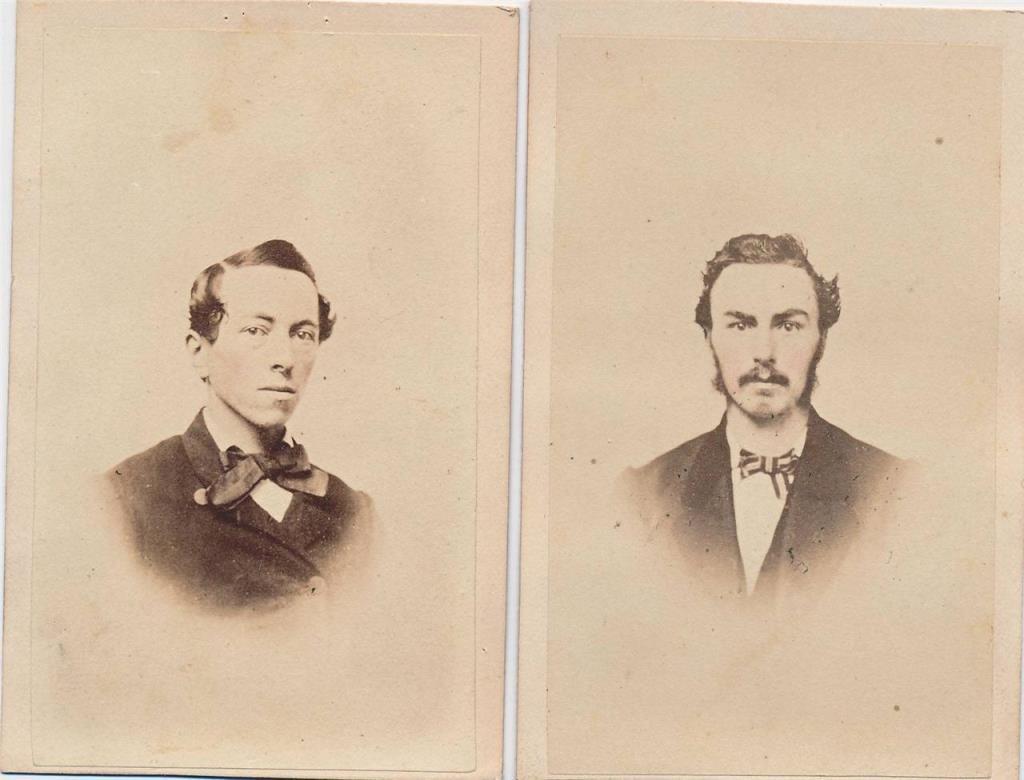 (2) Civil War Gents w/ Civil War Excise Stamp