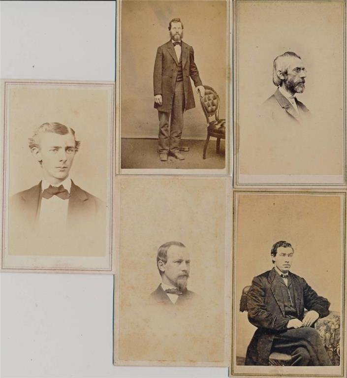 Lot of 5 CDV Images 1860-70's