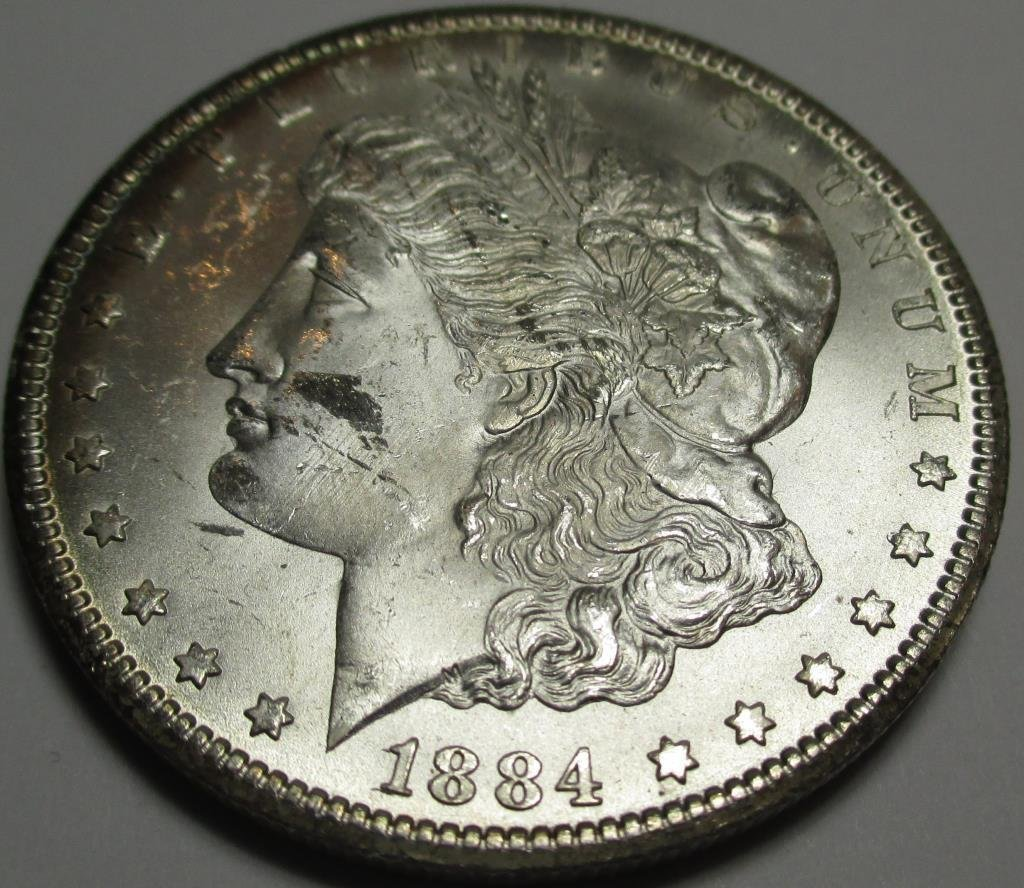 1884 Carson City CH BU Morgan Dollar