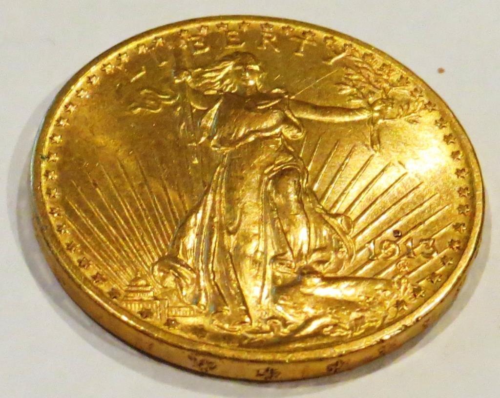 1913 D $ 20 Double Eagle Saint Gauden's