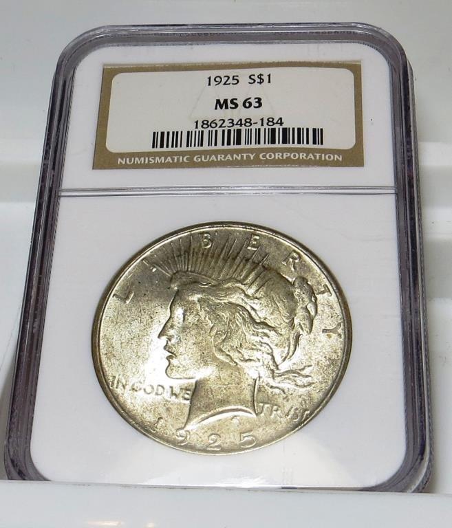 1925 NGC MS 63 Peace Dollar