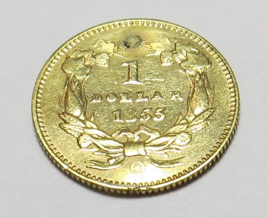 1855 O Type II Rare  $1 Gold Princess Details