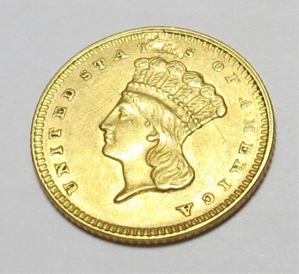 1857 Type III Gold Princess $ 1
