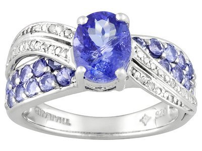 Tanzanite 2.07ctw Oval And Round With Diamond Accent