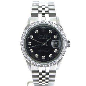 Men's Rolex DateJust SS Diamond Bezel