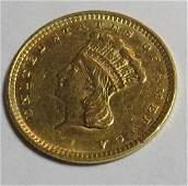 1856 Type III Gold Princess Dollar