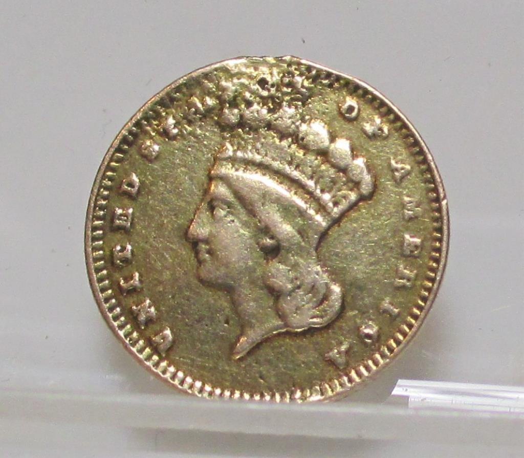 1862 Princess $ 1 Gold Coin