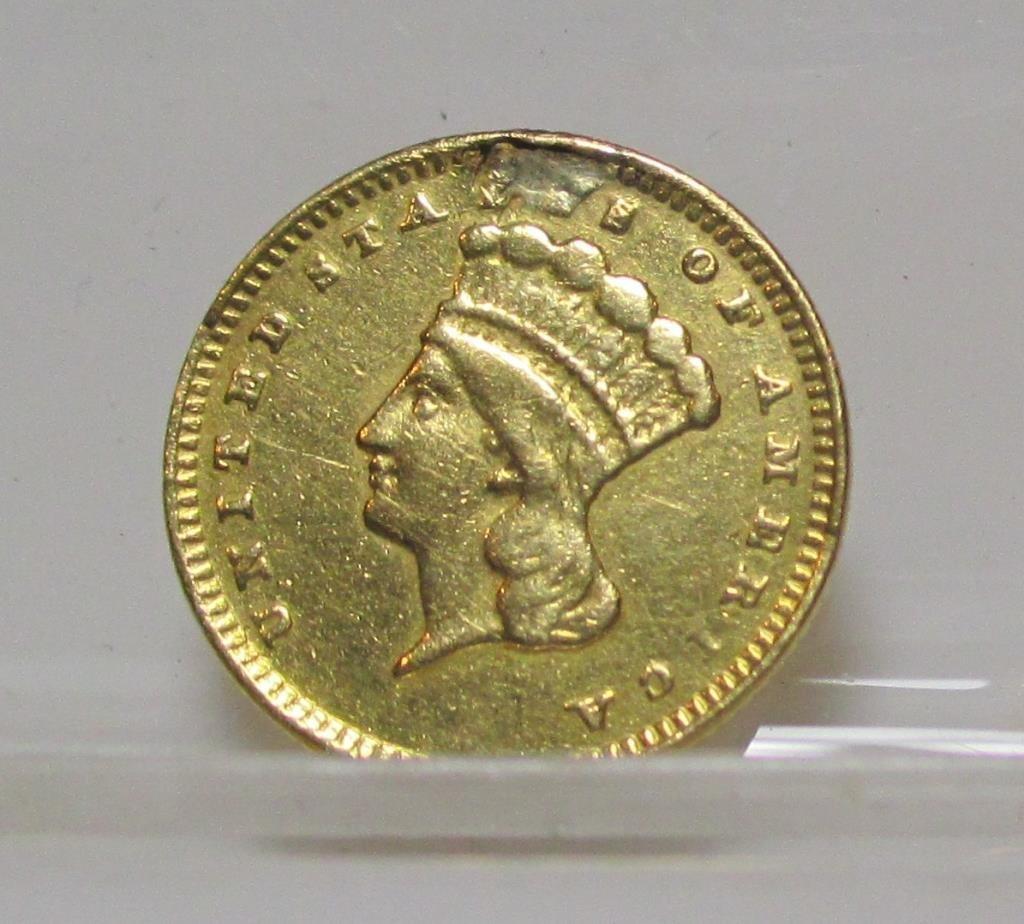 1874  Princess Head $ 1 Gold