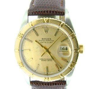 Mens Rolex Datejust 2tone14k Gold/SS
