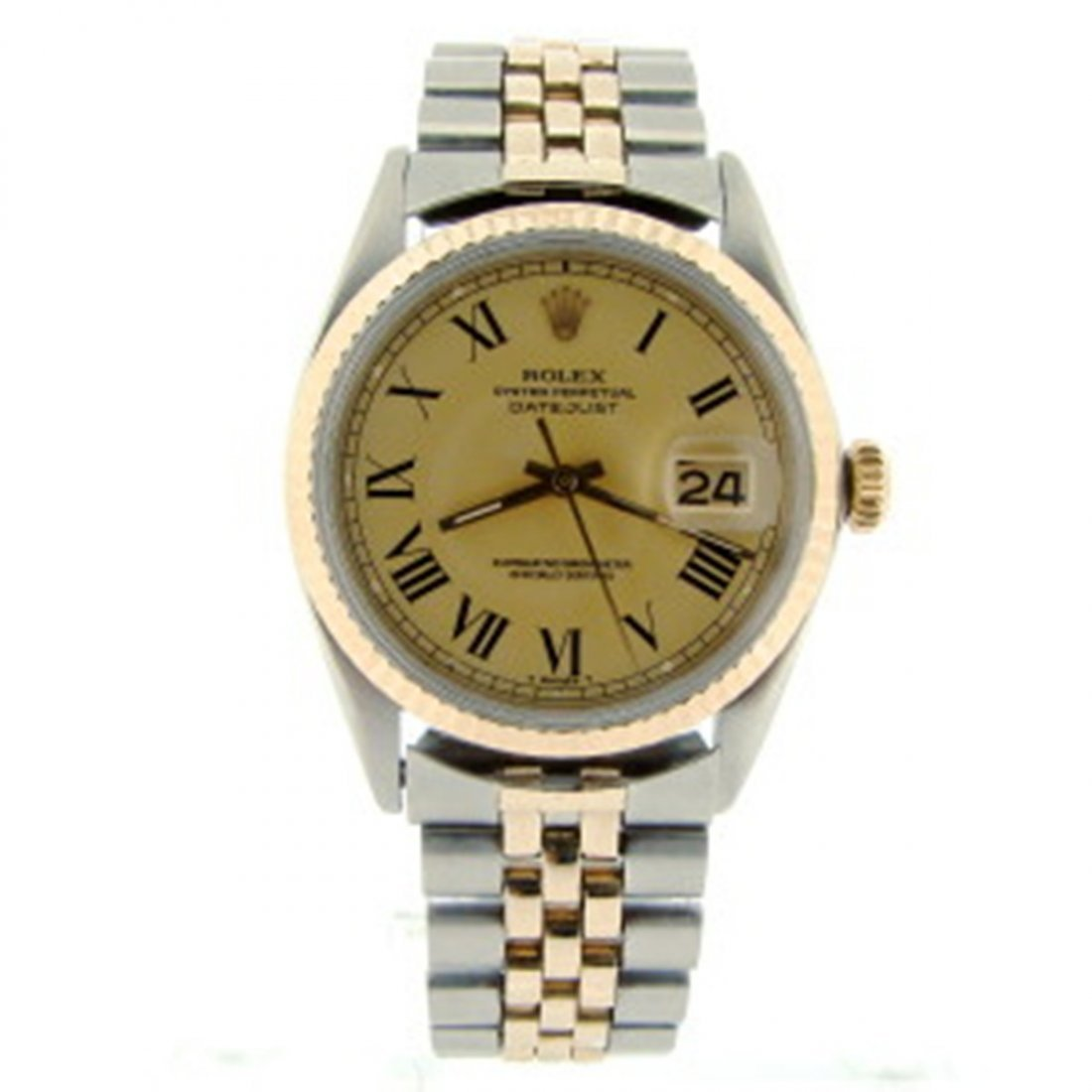Mens Rolex Datejust 2tone 14k Yellow Gold/SS