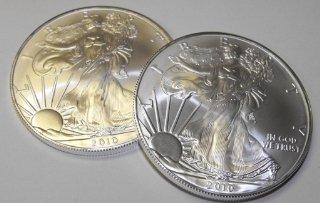Lot of (2) US SIlver Eagles - BU Grade -