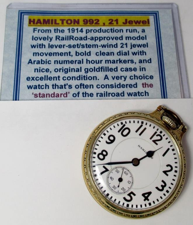 Hamilton 1914 pocket watch-Excellent Working Cond.