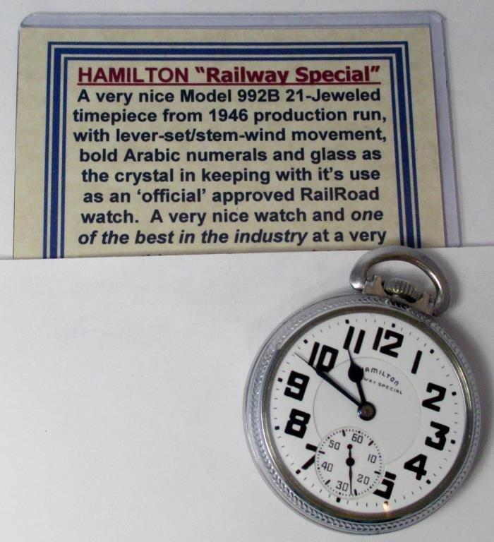 Hamilton 1946 pocket watch-Excellent Working PW