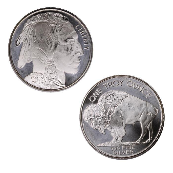 Nice Buffalo Silver Round Bullion Lot (10)