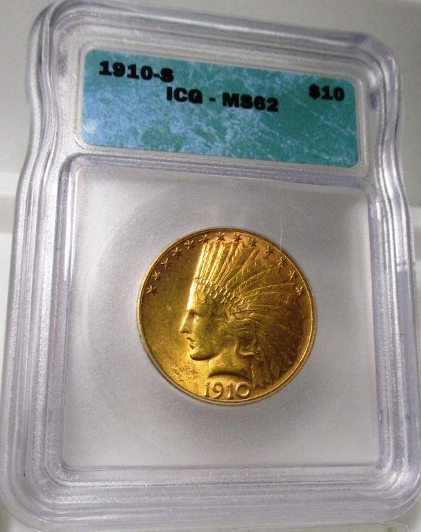 1910 S ICG MS 62 Gold Indian Eagle-GOLDBERG