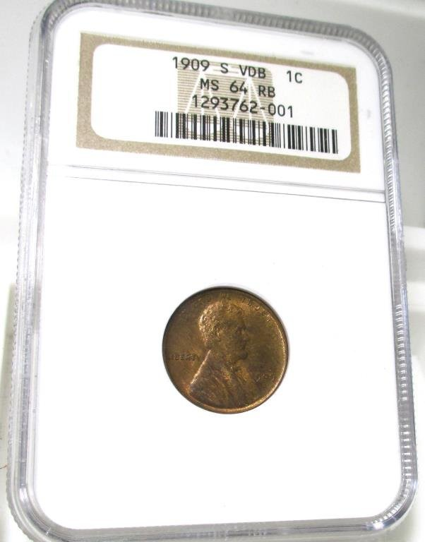 1909 S VDB MS 64 Red Brown NGC Lincoln Cent