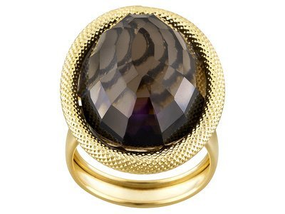 Toscana Colori With Smoky Quartz 14k Yellow Gold Ring