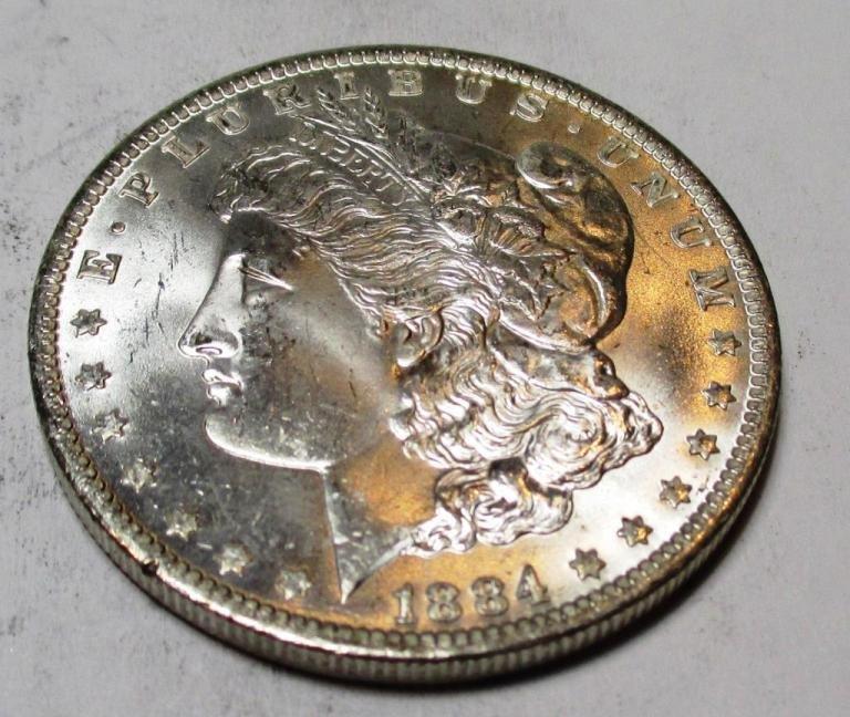 1884 o CH BU PL Morgan Dollar