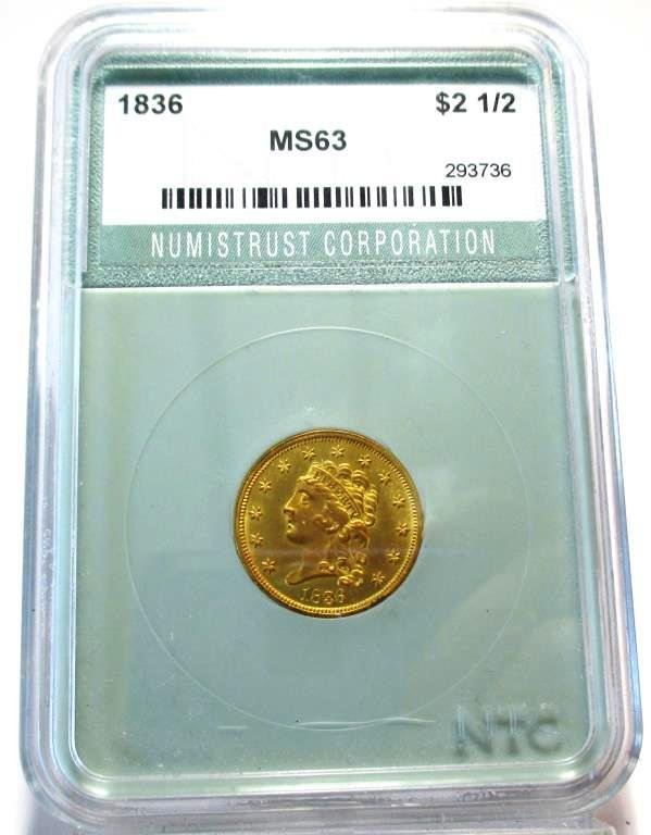 1836 MS 63 $ 2.50 Classic $ 8500 NTC