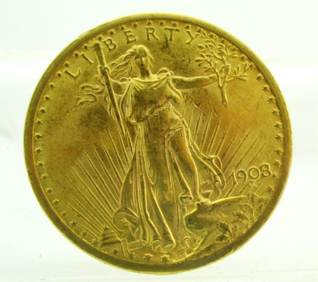 1908 $20 Saint Guden's Double Eagle