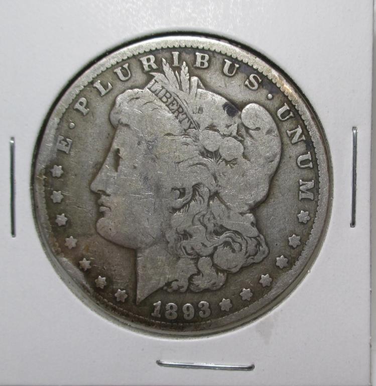 1893 Carson City KEY DATE Morgan Dollar