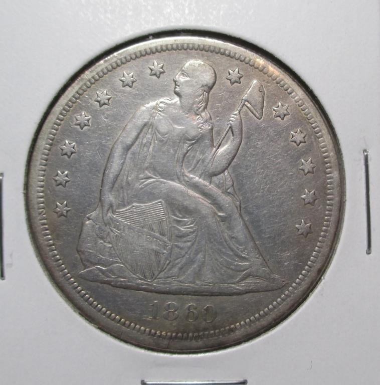 1860 O Seated Liberty Dollar SCARCE