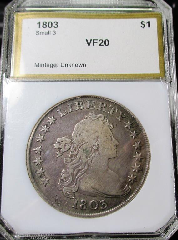 1803 Bust Dollar  VF 20 PCI RARE KEY Date