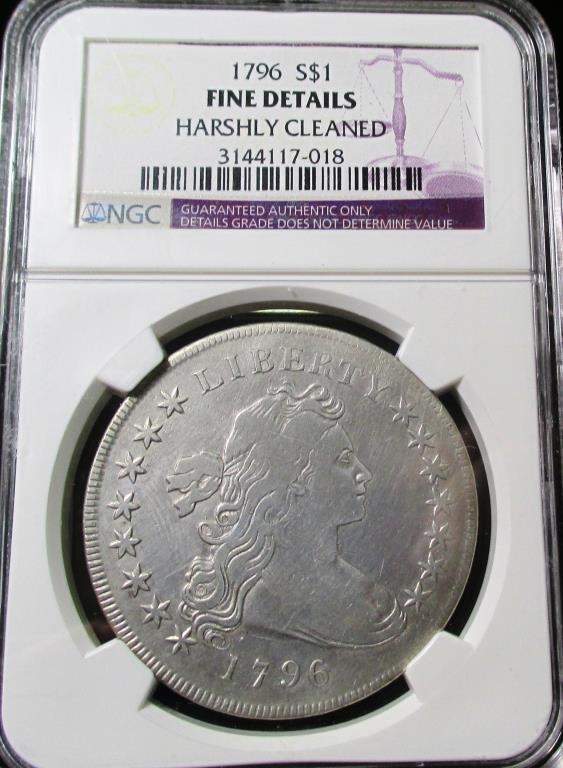 1796 Bust Dollar Fine Details NGC