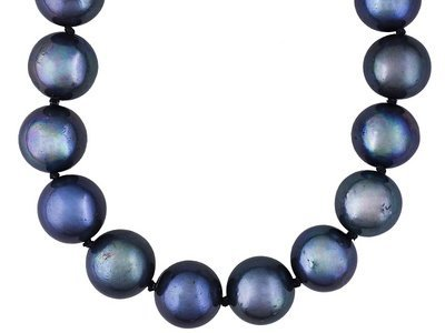 11-12mm Round Peacock Cultured Freshwater Pearl