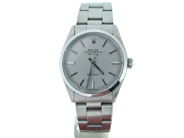 MENS ROLEX AIR-KING NO DATE STAINLESS STEEL
