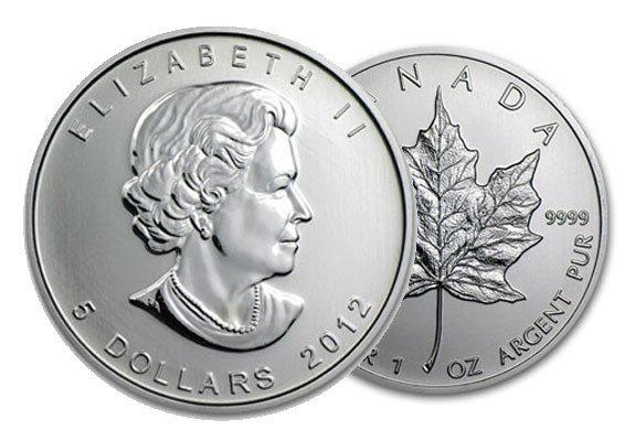 A 1 oz Canadian Maple Leaf Bullion