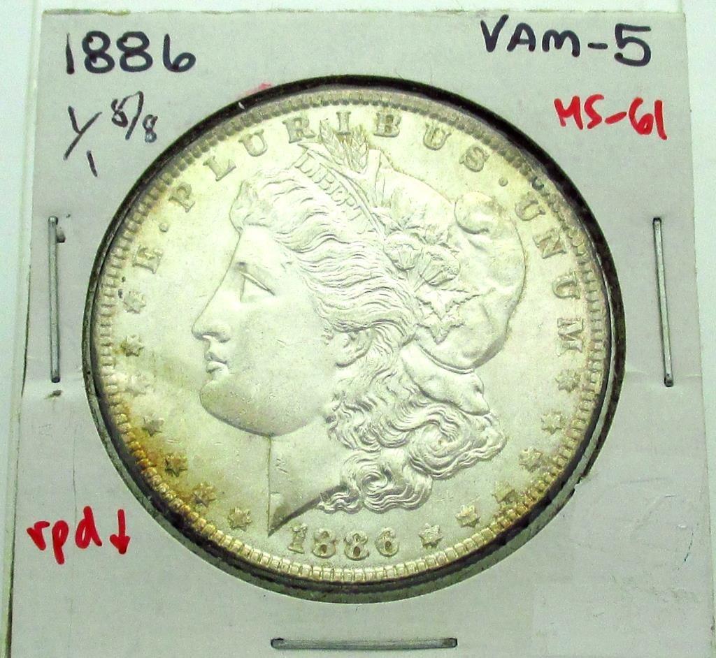 1886 P- VAM 5 MS 61 Morgan Dollar