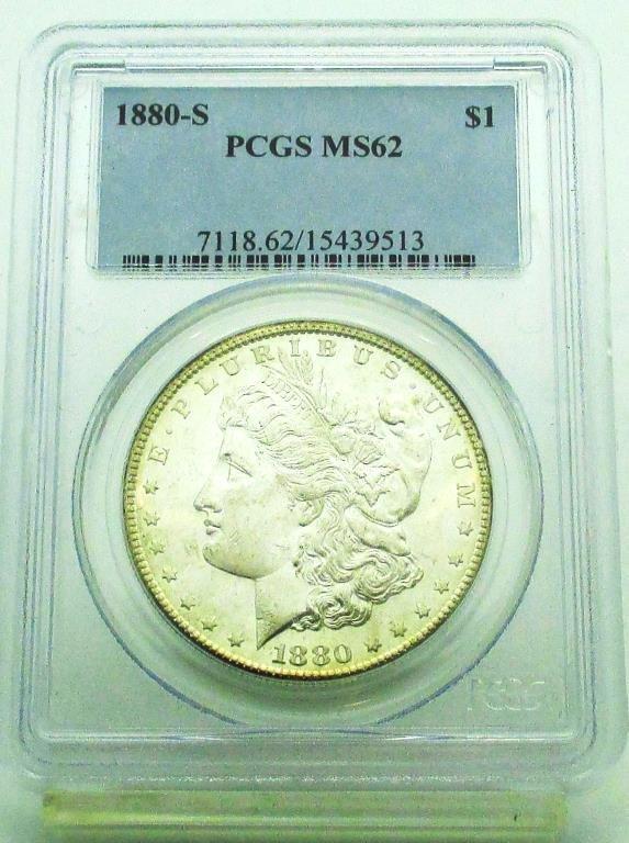 1880 S MS 62 PCGS Morgan Dollar Toned