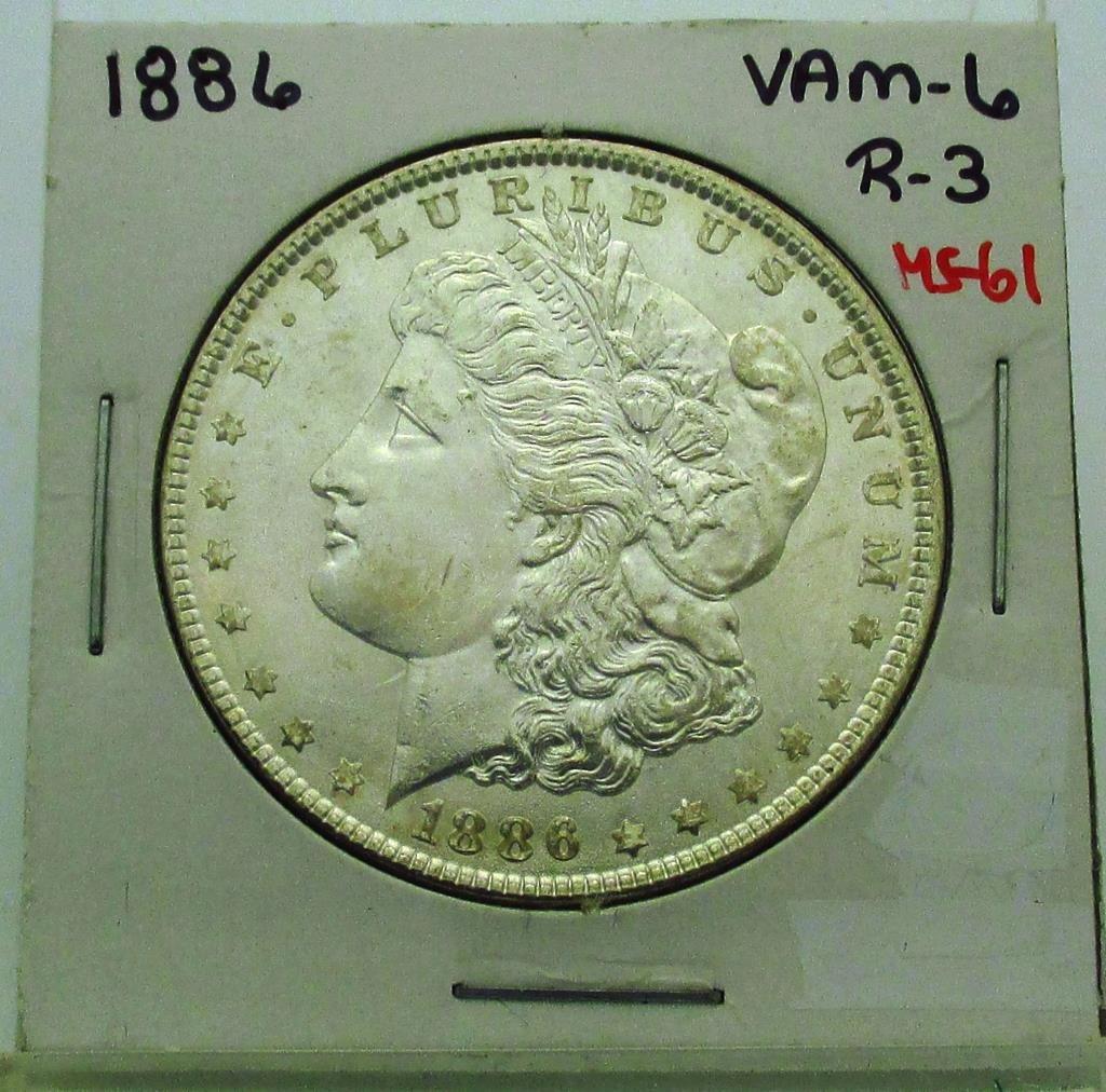 1886 P VAM 6 MS 61 Morgan Dollar