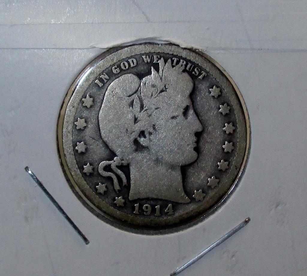 1914- P Barber Quarter