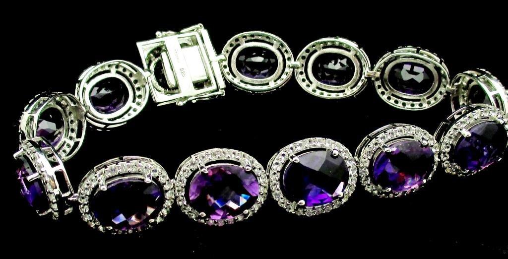 $13,188 Appraised Amethyst & Sapphire Bracelet