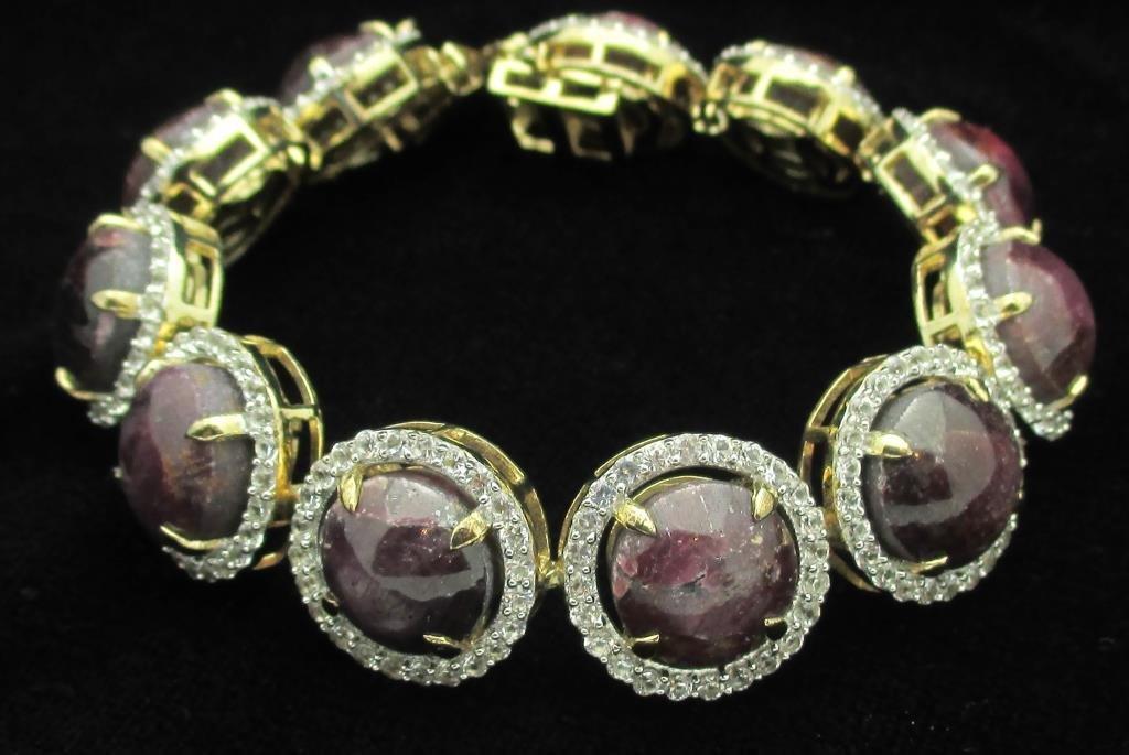 $16,960 Appraised Ruby & Sapphire Bracelet