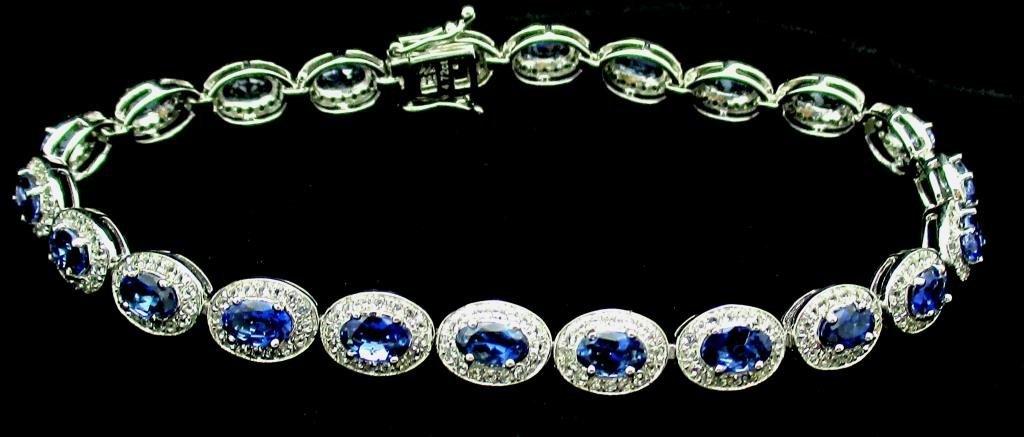 $7,819 Appraised Tanzanite & Topaz Bracelet