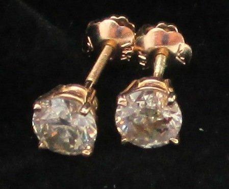 $3035 GG GIA APP. Champagne Diamond Earrings - .94