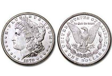 1879 S Bright Shiny Morgan Silver Dollar