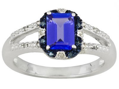 Tanzanite  1.15ct With Blue And White Diamond Accent