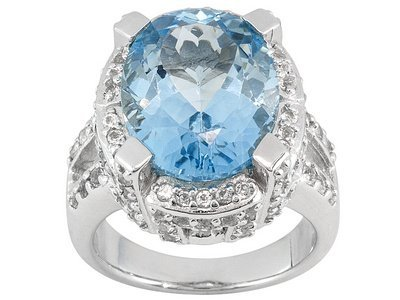 Topaz 13.50ct With 2.17ctw White Topaz Sterling Silver