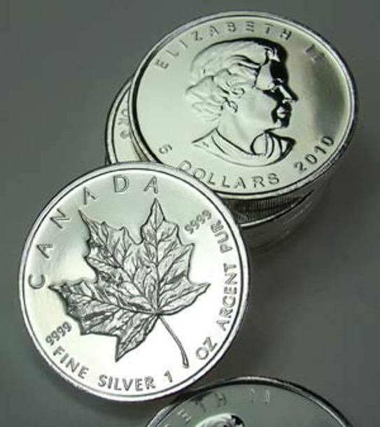 (10) Silver Maple Leaf Rounds 1 oz.