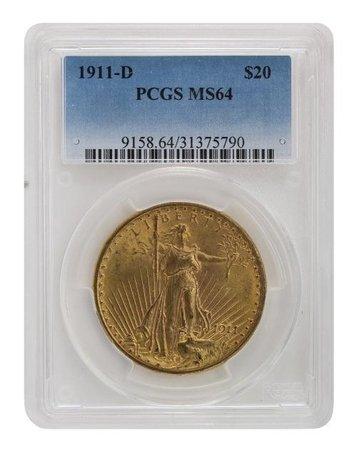 1911-D PCGS MS64 Saint Gaudens