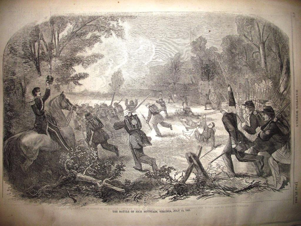 1860's Newspaper with Civil War Images