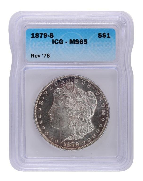 1879-S Reverse of 78 ICG MS65  $6000 coin!