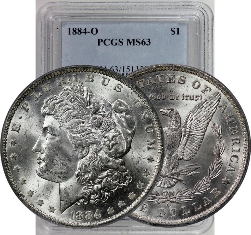 1884 O MS 63 PCGS Morgan Dollar