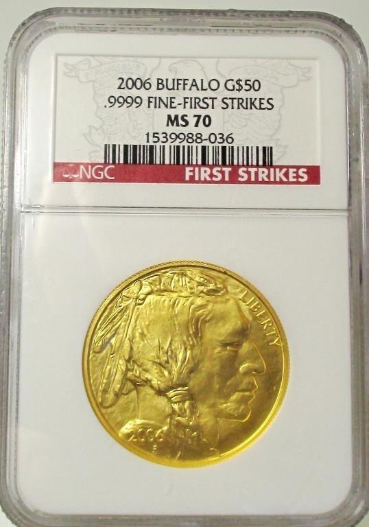2006 MS 70 Gold Buffalo NGC Perfect Coin!