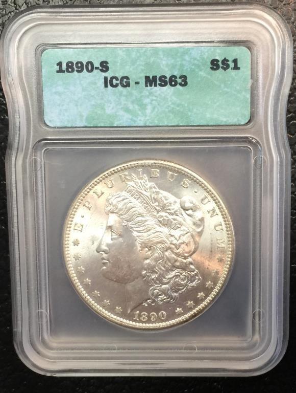 1890 s MS63 ICG Morgan Dollar Key Date