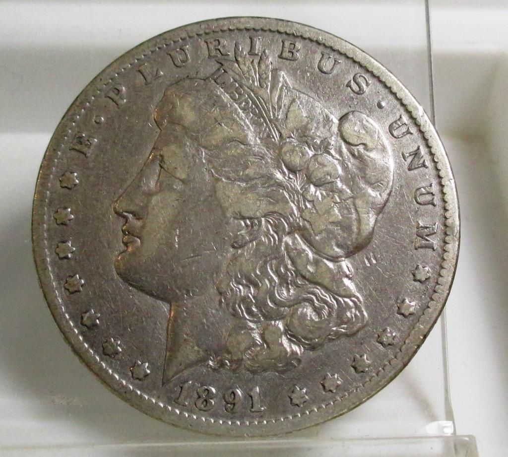 1891 Carson City Key Date Morgan Dollar